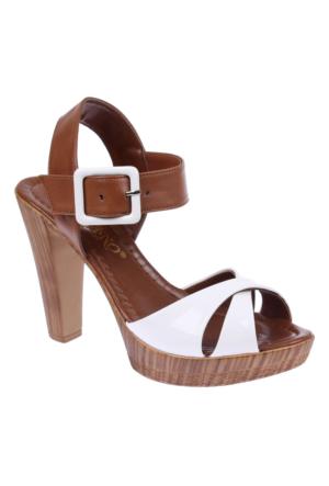 Shalin Szr 7601 Beyaz Kadın Sandalet