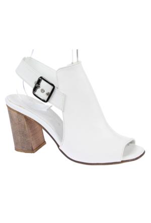 Shalin Szr 60 Beyaz Kadın Sandalet