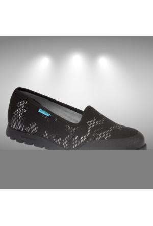 King Paolo 5862 Siyah Gümüş Günlük Yazlık Kadın Spor Ayakkabı