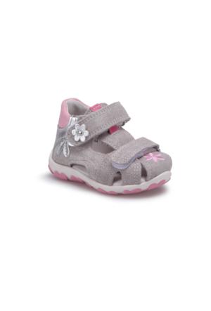 Superfit 00040-16 Gümüş Kız Çocuk Deri Sandalet
