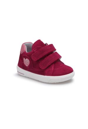 Superfit 00043-37 Bk Bordo Kız Çocuk Deri Ayakkabı