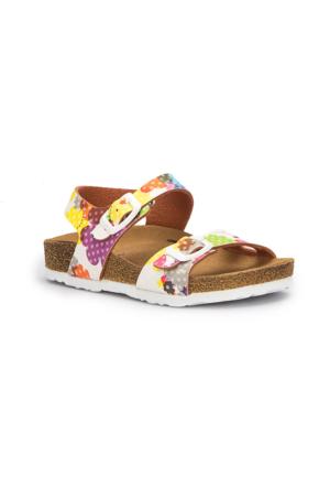 Pink Step Barfi-1 Beyaz Kız Çocuk Sandalet