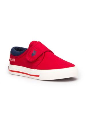 U.S. Polo Assn. Tundra Kırmızı Unisex Çocuk Sneaker Ayakkabı