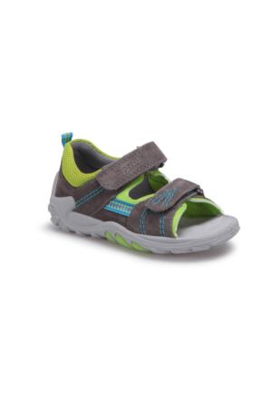 Superfit 00030-06 Pe Gri Erkek Çocuk Deri Sandalet