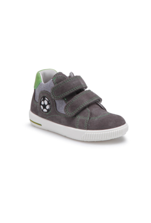 Superfit 00045-06 Pe Gri Erkek Çocuk Deri Ayakkabı
