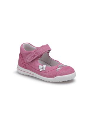 Superfit 00373-67 Bk Pembe Kız Çocuk Deri Ayakkabı