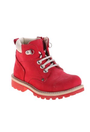 Polaris 52.505594.P Kırmızı Kız Çocuk Deri Bot
