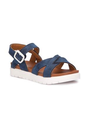 Polaris 71.508159.P Lacivert Kız Çocuk Basic Sandalet