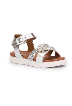 Pink Step Larin Gümüş Kız Çocuk Basic Sandalet