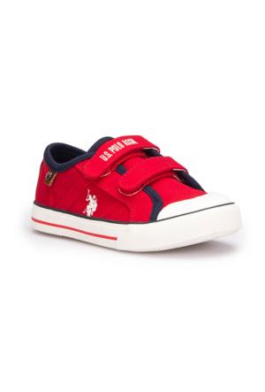 U.S. Polo Assn. Cinelli Kırmızı Unisex Çocuk Sneaker Ayakkabı