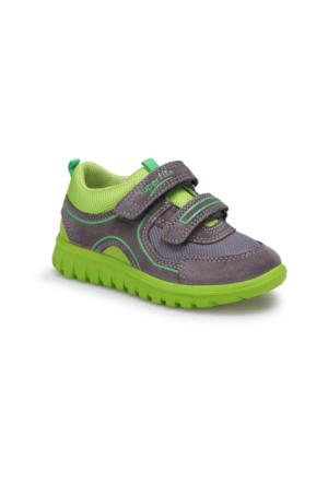Superfit 00192-6 Pe Gri Erkek Çocuk Deri Ayakkabı