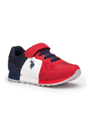 U.S. Polo Assn. Marco Kırmızı Unisex Çocuk Sneaker Ayakkabı