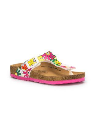 Pink Step Leydi-1 Beyaz Kız Çocuk Terlik
