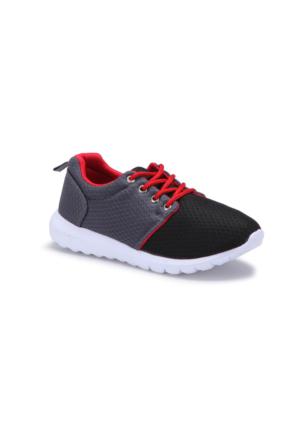 I Cool Roshy Siyah Kırmızı Erkek Çocuk Sneaker Ayakkabı