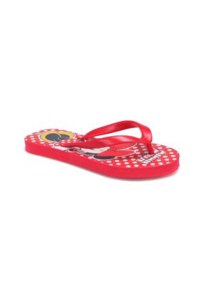 Mickey Mouse 90563T Kırmızı Kız Çocuk 376 Terlik