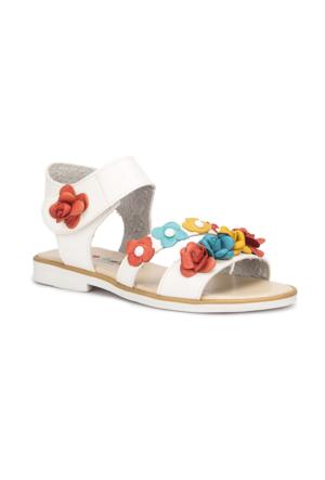 Polaris 71.509034.F Beyaz Kız Çocuk Basic Sandalet