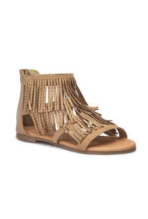 Polaris 71.509169.F Kahverengi Kız Çocuk Basic Sandalet