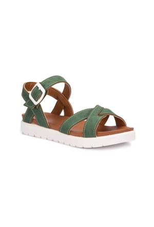 Polaris 71.508159.F Yeşil Kız Çocuk Basic Sandalet