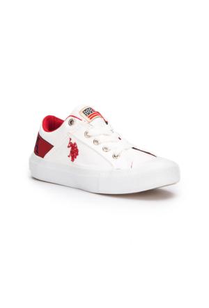 U.S. Polo Assn. Domingo Beyaz Erkek Çocuk Sneaker Ayakkabı