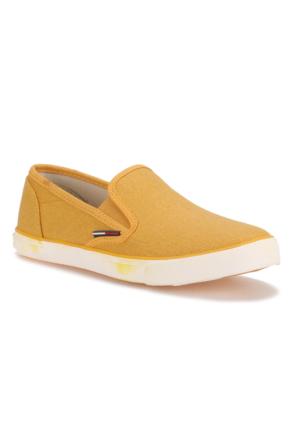Tommy Hilfiger Hilton 4D Sarı Kadın Sneaker Ayakkabı