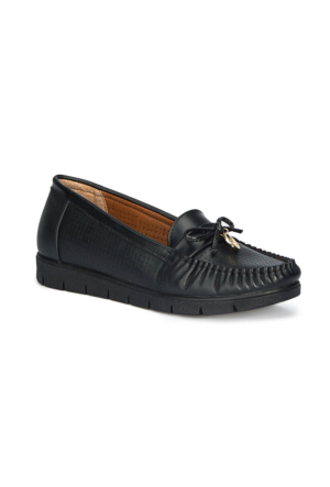 Polaris 71.157223.Z Siyah Kadın Loafer Ayakkabı