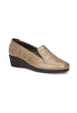 Polaris 71.157298.Z Vizon Kadın Dolgu Topuk Ayakkabı
