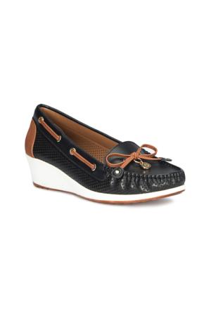 Polaris 71.157258.Z Siyah Kadın Loafer Ayakkabı