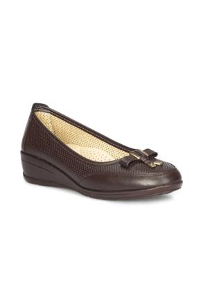 Polaris 71.157293.Z Kahverengi Kadın Dolgu Topuk Ayakkabı