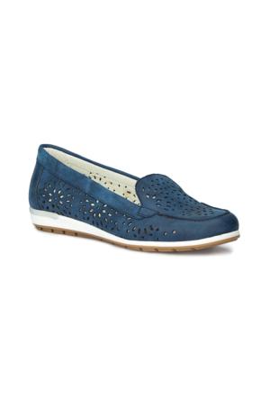 Polaris 71.157238Nz Lacivert Kadın Loafer Ayakkabı