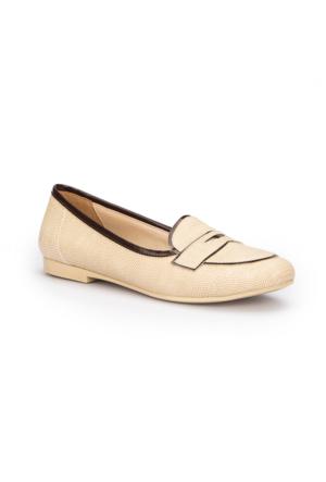 Polaris 71.309706.Z Bej Kadın Loafer Ayakkabı