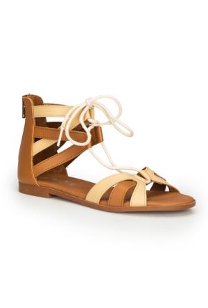 Polaris 71.310138.Z Taba Kadın Sandalet