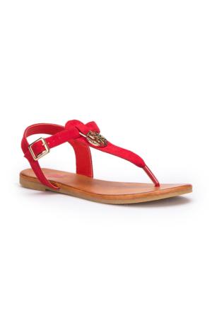 U.S. Polo Assn. Purnima Kırmızı Kadın Sandalet