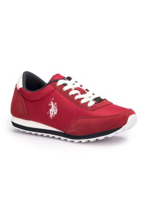 U.S. Polo Assn. Pacific Bordo Kadın Sneaker Ayakkabı