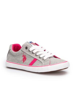 U.S. Polo Assn. Damir Gri Kadın Sneaker Ayakkabı