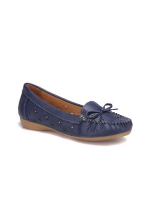 Polaris 71.156521.Z Lacivert Kadın Loafer Ayakkabı
