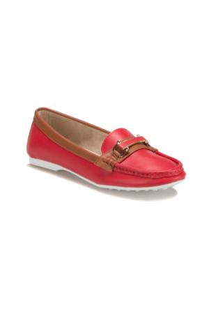 Miss F F18010 Kırmızı Kadın Loafer Ayakkabı