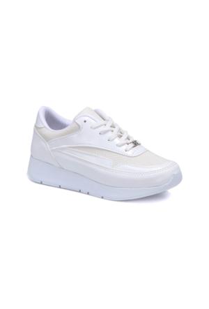 Butigo S1115 Beyaz Kadın Sneaker Ayakkabı Athletic