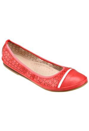 Miss F F16021 Kırmızı Kadın Babet