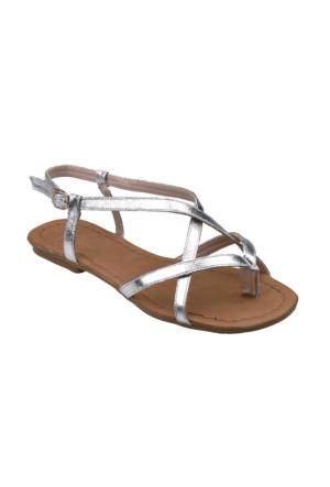 Polaris 61.308689.Z Gümüş Kadın Sandalet