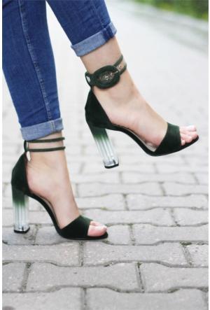 İnce Topuk Şeffaf Topuklu Ayakkabı