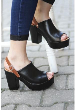 İnce Topuk Platformlu Topuklu Ayakkabı