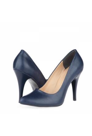 Tübu Kadın Topuklu Ayakkabı Lacivert