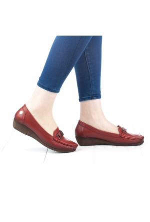 Mammamia Kadın Dolgu Topuklu Ayakkabı Kiremit