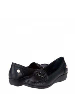 Mammamia Kadın Dolgu Topuklu Ayakkabı Siyah