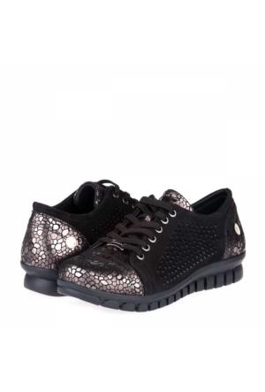 Mammamia Kadın Günlük Ayakkabı Siyah - Gümüş