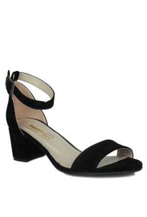 Loggalin 375318 031 008 Kadın Siyah Sandalet