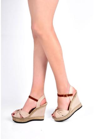 Sapin 25934 Kadın Sandalet Bej