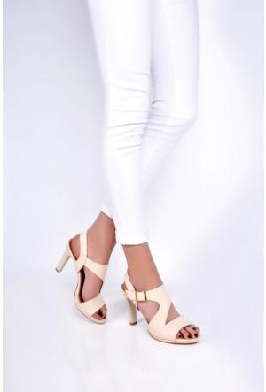 Sapin 25619 Kadın Topuklu Sandalet Bej