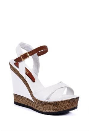 Sapin 25935 Kadın Sandalet Beyaz