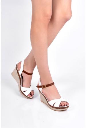 Sapin 25938 Kadın Sandalet Beyaz